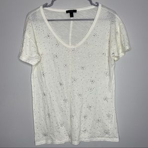 J. Crew rhinestone embellished t shirt medium